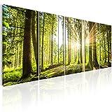 murando - Bilder Wald 200x80 cm - Leinwandbilder - Fertig Aufgespannt - 5 Teilig - Wandbilder XXL -...