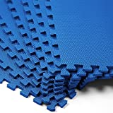 8x Bodenschutzmatten 45x45cm - 1,62m² Fitnessmatte Yogamatte Puzzlematte ✔ Stecksystem ✔ hohe...
