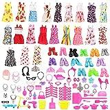 Miunana 120 PCS = 105 Accessories Zubehör Ständer Kleiderständes Schuhe + 15 Kleidung Kleid Dress...