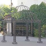 CLP Garten-Pavillon PALAIS, rund Ø 3,70 Meter, Höhe 440 cm, stabiles Eisen ( Metall ), schlichtes...