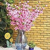 Hengbaixin Kunstseide Blumenstrauß mit rosa Pfirsichblüten, Frühlingsblumen und Pfirsichblüten,...