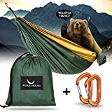 PURE HANG Premium Camping Hängematte Outdoor XXL Mehrpersonen 300 KG Traglast Einzel & Doppel 285cm...
