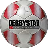 Derbystar Fußball Apus Pro S-Light, Kinder Trainingsball, Ball Größe 4 (290 g), weiß rot, 1719