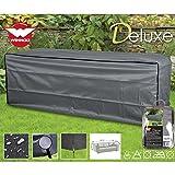 Deluxe Schutzhülle für Rattan 3er Garten Sofa 220x80cm, Polyester 420D - Lounge Gartenmöbel...