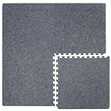 4 Teppichfliesen mit 8 Abschlussleisten erweiterbare Steckmatten Puzzlematten Bodenauflagen...