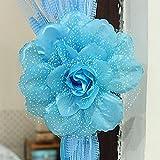 SUPEWOLD Peony Flower Vorhang Schnalle Wechselrahmen Raffhalter Käfigkopf Babysbreath 2Stück...