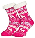 Piarini 1 Paar Kuschelsocken mit ABS Sohle | warme Damen Socken | Wintersocken mit Anti Rutsch...