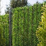 FairyTrees Sichtschutz Garten Zaunblende, GreenFences Hecke, Kiefernoptik Hellgrün, PVC, Höhe...