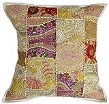 nandnandini, indische Baumwolle, handgefertigt, Antique Kissenbezug, Bohemian-Kissenfüllung,...