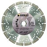 Amboss ARS 40P - Diamant-Trennscheibe Ø 125 mm x 22,2 mm - Sandstein / weiche Kalksteine / Estrich...