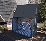 Trimetals Gerätebox, Aufbewahrungsbox, Multifunktionsbox, Fahrradbox Sesame Anthrazit 185x76x139...