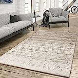 T&T Design Teppich für das Wohnzimmer Farbverlauf Modern Creme Beige, Größe:230x320 cm