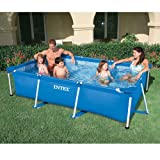 INTEX Familienpool 220x150x60 cm, blau, sehr stabil, schneller Auf-und Abbau: Metal Frame Pool...