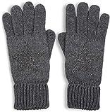 styleBREAKER warme Handschuhe mit Strass Nieten Stern Applikation und doppeltem Bund,...