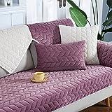 HM&DX Plüschsofa abdeckung,Weiche baumwolle slipcover anti-rutsch-sofa sofabezug für sektionaltore...