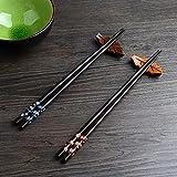 2 Paar Set Essstäbchen Japanische Natur Chopsticks aus umweltfreundlichem hölzernen in edler...