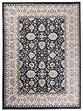 Tapiso Colorado Teppich Wohnzimmer Klassisch Kurzflor Orientalisch Schwarz Creme Beige Floral...