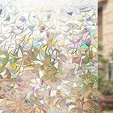 Rabbitgoo 3D Fensterfolie Selbstklebend Dekorfolie Sichtschutzfolie Statisch Haftend Anti-UV -...