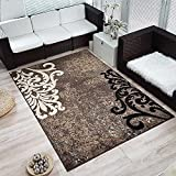 Moderner Design Kurzflor Teppich »Ornamento«, Größe:120x170 cm, Farbe:braun/beige