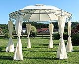 Eleganter Gartenpavillon 3,5 Meter Durchmesser mit 6 Vorhängen Modell: 7073-A von AS-S