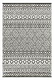 Grün Deko-leichte Outdoor wendbar Kunststoff Relic plastic Teppich (120 x 180 cm, Grau / Weiß)