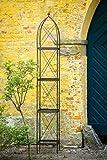 Rankgerüst Rankhilfe aus Metall H: 230cm, Breite: 34cm Rankturm Obelisk