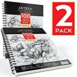 Arteza Sketchbook — Skizzenbuch mit Spiralbindung — Weißes Din A4 Zeichenpapier — 100...