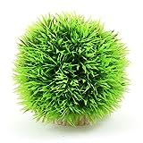 uxcell Kunstpflanze Aquatic Fisch Tank Gras Ball Décor, 8,9cm grün