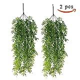 HUAESIN 2 Pcs reben künstlich kunstpflanzen hängend hängepflanzen künstliche grünpflanze...