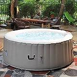 Nemaxx SPA180-P Selbstaufblasbarer Whirlpool, Spa - Ø180cm, 800L (2-4 Personen), eingebautes...