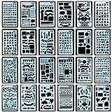 Zeichen Schablonen Grafiken Schablonen, 24 Stückfür Bullet Journal Scrapbooking verzieren/...