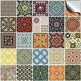 24 stück Fliesenaufkleber für Küche und Bad (Tile Style Decals 24x NTP 06 - 6') | verschiedene...
