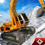 Schneepflug Winter Simulator Bagger Fahrer 3D: Schwere Schnee Bagger Kran Echte Fahrer Rescue...