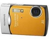Olympus Stylus 850SW 8MP Digitalkamera mit 3x optischem Zoom (Orange)