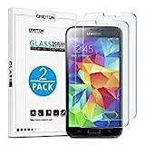[2 Stück] OMOTON Panzerglas Schutzfolie für Samsung Galaxy S5/Samsung galaxy S5 Neo, Anti-Kratzer,...