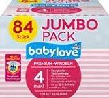 babylove Windeln Premium Größe 4, maxi 7-18kg, Jumbo Pack 2x42 Stück, 1 x 84 St