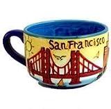 San Francisco Suppentasse, handbemalt, 5 x 3 cm