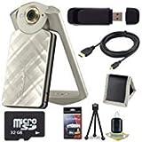 6Ave Casio EX-TR50 Self Portrait/Selfie Digital Camera (Gold) + 32GB microSD Class 10 Memory Card +...
