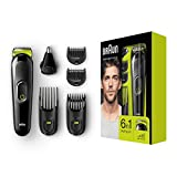 Braun 6-in-1 Multi-Grooming-Kit MGK3021, Barttrimmer, Ohren- und Nasenhaartrimmer, lebenslang...