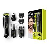 Braun 6-in-1 Multi-Grooming-Kit MGK3021, Barttrimmer und Haarschneider, Ohren- und Nasenhaartrimmer,...