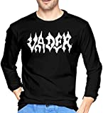 Va-der Band Men's Long Sleeve Cotton O Neck T-Shirt Black-X-Large-