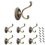 Lezed Bronze Vintage Wand Kleiderhaken Schlafzimmer Mantel Hut Haken Dekorative Coat Hook Metall...