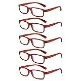 L-LIPENG Trend Frauen Männer Senioren Lesebrillen Vintage Sehhilfe Sehhilfe mit Blaulichtflilter...