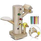 Jooheli Montessori Spielzeug, Magnetisches Spielzeug Kinder Spiel 3 Jahre, Specht Raupen Fangen...