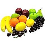 Aisamco 21 Stück künstliche Früchte Sortiert gefälschte Früchte lebensechte realistische...