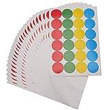 Fasmov 4800 runde Etiketten für Markierungen, runde Punkte, abnehmbare Farbcodierung, 1,9 cm