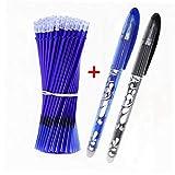 JRXyDfxn 25pcs / Lot Lschbare Feder Refill Set Waschbar Griff 0.5mm Schwarzer Tinte Kugelschreiber...