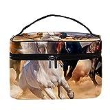 Gold Einhorn Kosmetiktasche für Mädchen Frauen, große Kapazität und verstellbare...