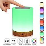 LED-Nachtlicht,Nachttischlampe Stimmungslicht,Smart Touch Control Nachtlicht,Dimmbar...