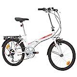 BIKE SPORT LIVE ACTIVE Klapprad Faltrad Fahrrad Bikesport Folding 20 Zoll Shimano 6 Gang (Weiß...
